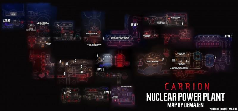 Карты уровней Carrion — все локации и карты