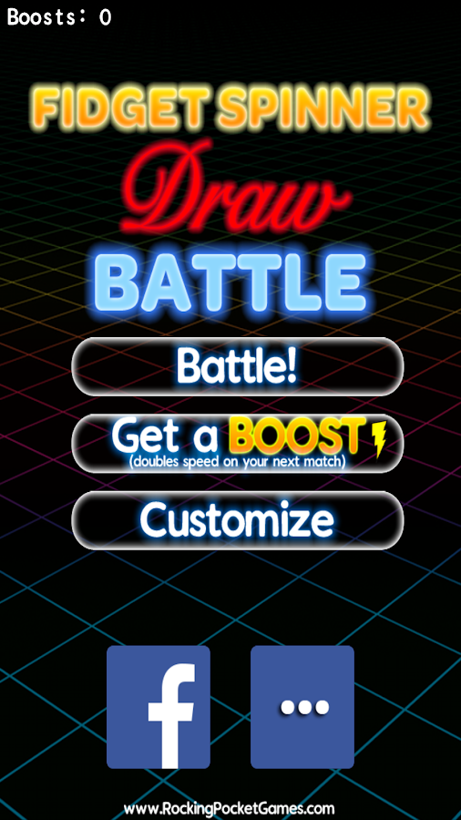 Fidget Spinner Draw Battle- screenshot