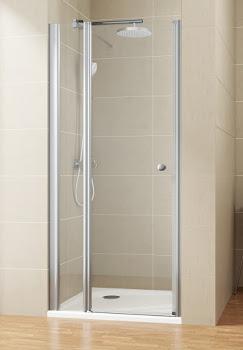 Porte de douche pivotante sur paroi fixe