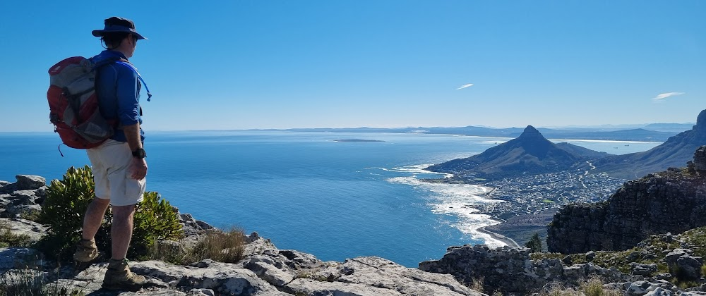 View north to Robben Island and Lion's Head