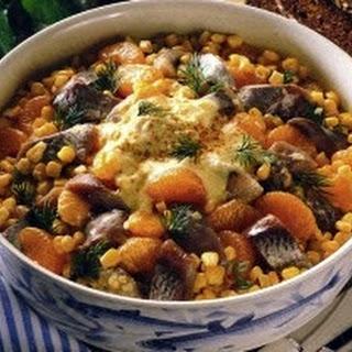 Matjessalat mit Currysoße