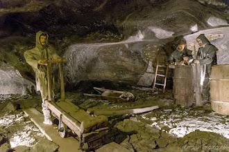 Photo: Ekspozycja ukazująca pracę dawnych górników