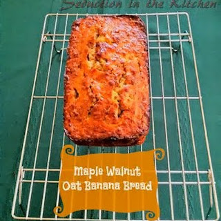 Maple Walnut Oat Banana Bread.