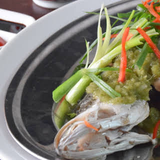 Chinese Steamed Fish With Ginger Paste.