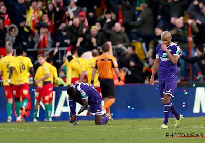 """Kompany analyse le match loupé d'Anderlecht : """"Un manque évident de qualité"""""""