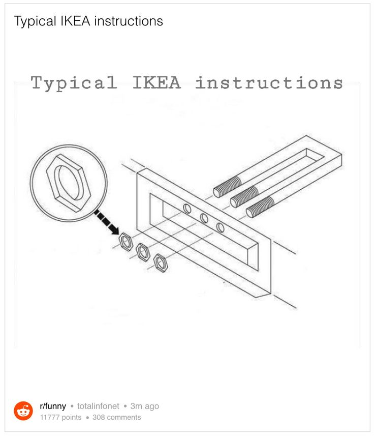 Reddit typical IKEA instructions.