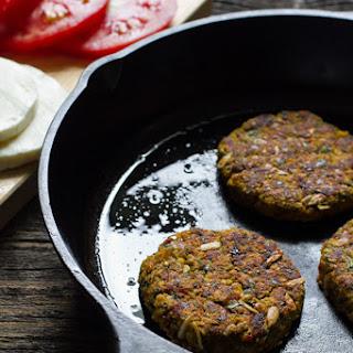 Basil, Garlic, + Tomato Veggie Burgers