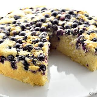 Lemon Blueberry Buttermilk Cake.