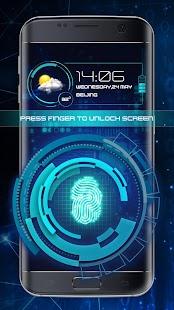 Fingerprint Lock Screen Theme 2018 (Prank) - náhled