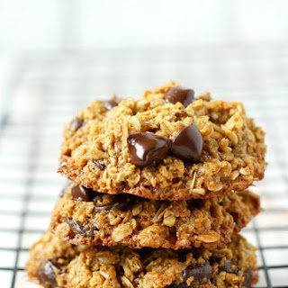 Soft and Chewy Healthy Oatmeal Chocolate Chip Cookies..