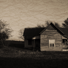 The Old Home by Kent Moody - Buildings & Architecture Decaying & Abandoned ( farm, sepia, house, abandoned )
