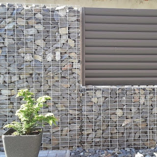Gabion baskets, fencing and furniture
