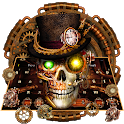 Steampunk Skull Gravity Keyboard Theme icon