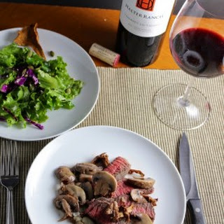 Roasted Sirloin Steak with Chanterelle Mushrooms