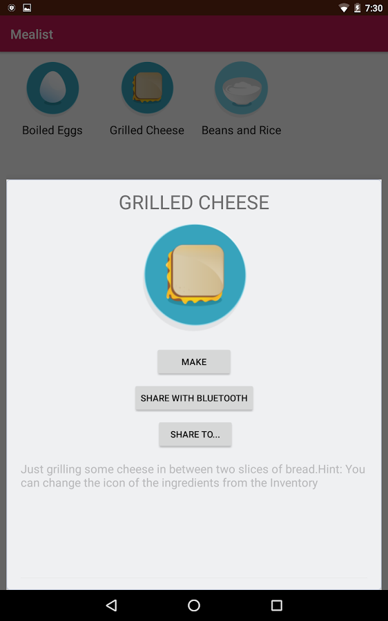 Mealist - The Meal Manager- screenshot