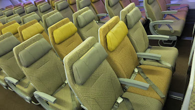 Photo: Economy class seats on Singapore Air's new B777-300ER