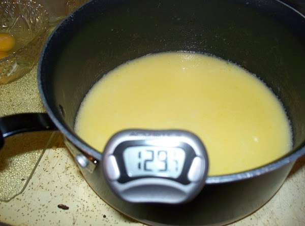 In a sauce pan heat butter , milk and water until very warm (...