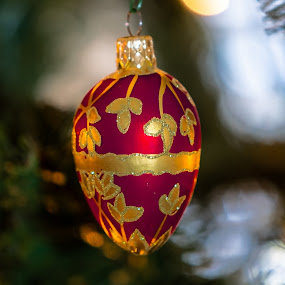 Ornament by Bert Templeton - Public Holidays Christmas ( red, gold, glass, ornament, green, christmas tree, bright, yellow, shiny, christmas,  )