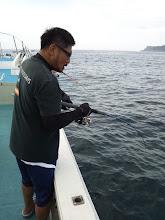 """Photo: ファーストヒットは、数日前にもご乗船頂きました""""みねさん""""!"""