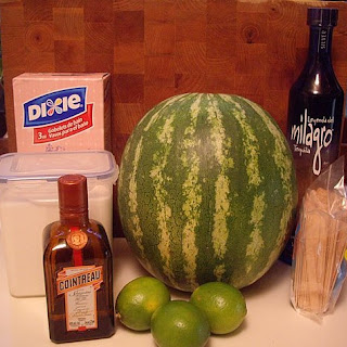 Watermelon Margarita Popsicles.