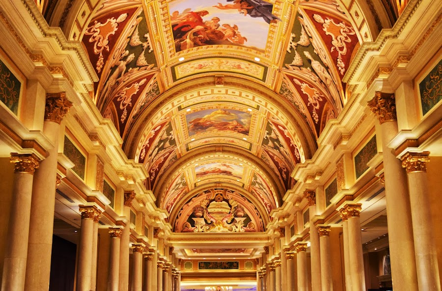 Amazing art by Deborshi Raychowdhury - Buildings & Architecture Office Buildings & Hotels ( building, art, casino, architecture, light, vegas,  )