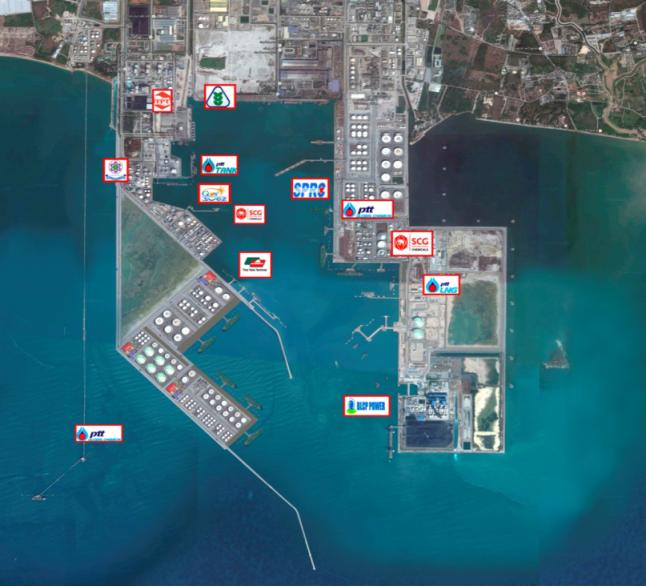 ภาพโครงการท่าเรืออุตสาหกรรมมาบตาพุด ระยะที่ 3