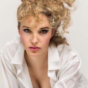 Beautiful Eyes by Ralf Eyertt - People Portraits of Women ( model, sexy, female, makeup, blond, beauty, closeup, eyes,  )