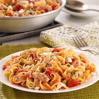 Mediterranean Tuna Noodle Skillet