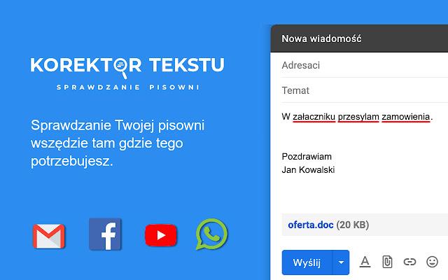 Korektor Tekstu - sprawdzanie pisowni