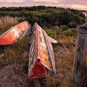 Left Behind by Ewan Arnolda - Artistic Objects Other Objects ( nature, boats, transportation, landscape, coastal )