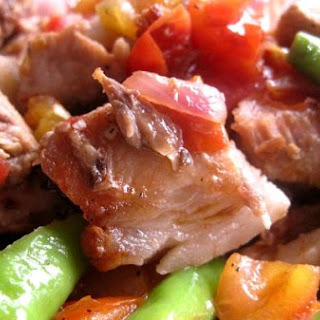 Sauteed Grilled Pork With Chillies and Tomatoes