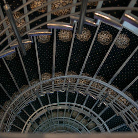 Spiral by Roxana Stoica - Abstract Patterns ( stairs, indoor, spiral, objects, city,  )