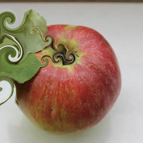 The Apple by Bozica Trnka - Digital Art Things ( red, digital, apple, fruit, abstract )
