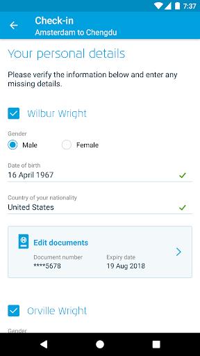 KLM - Royal Dutch Airlines  screenshots 3