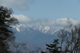 左に兎岳、中央は聖岳
