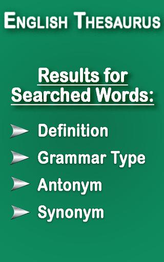 English Thesaurus 2.6 screenshots 1