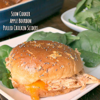 Apple Bourbon Pulled Chicken Sliders