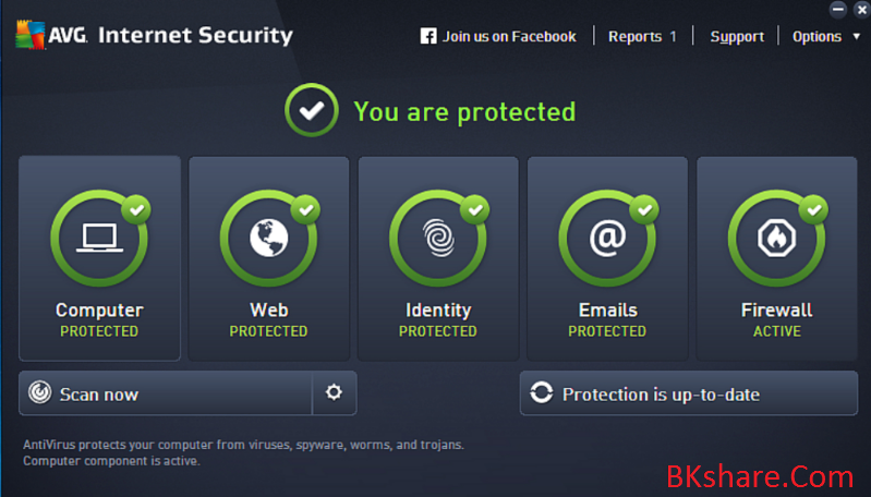 Download AVG Internet Security 2015 bản quyền đến 2018