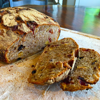 Cranberry, Raisin, Date and Nut Bread.