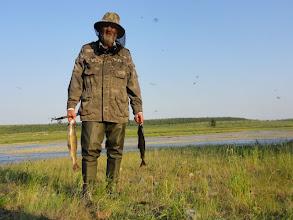 Photo: Удачная рыбалка - 2 огромных хариуса.