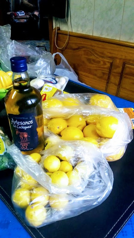 pisco sour in making in chile