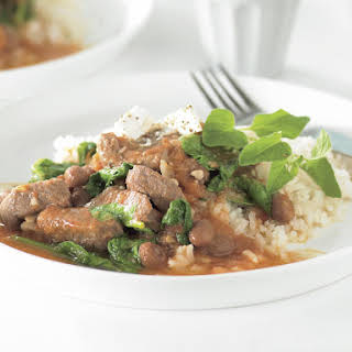 Lamb with Cranberry Beans.