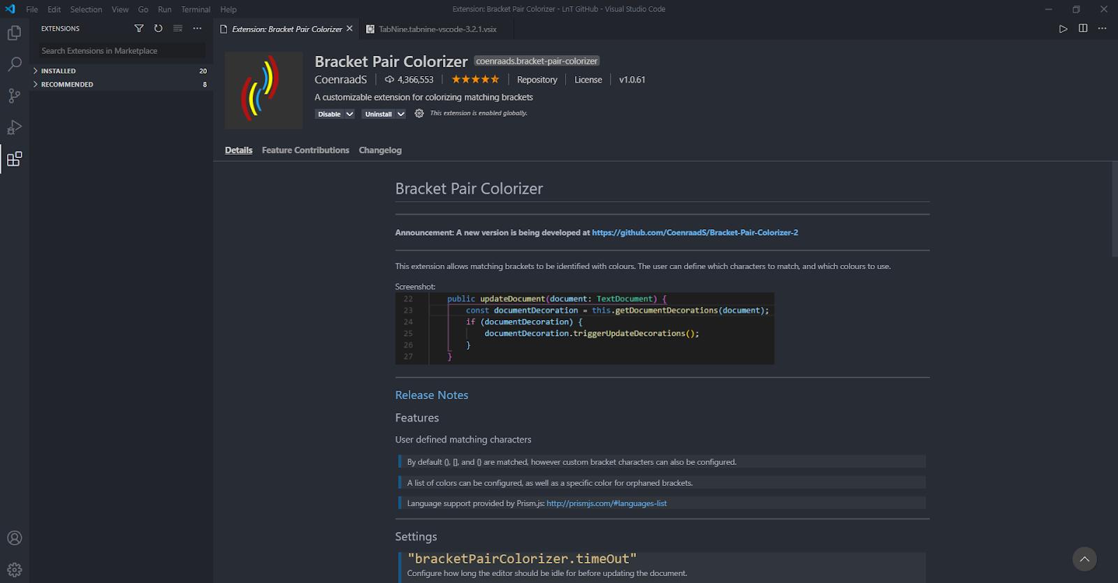 Visual Studio Code Extension
