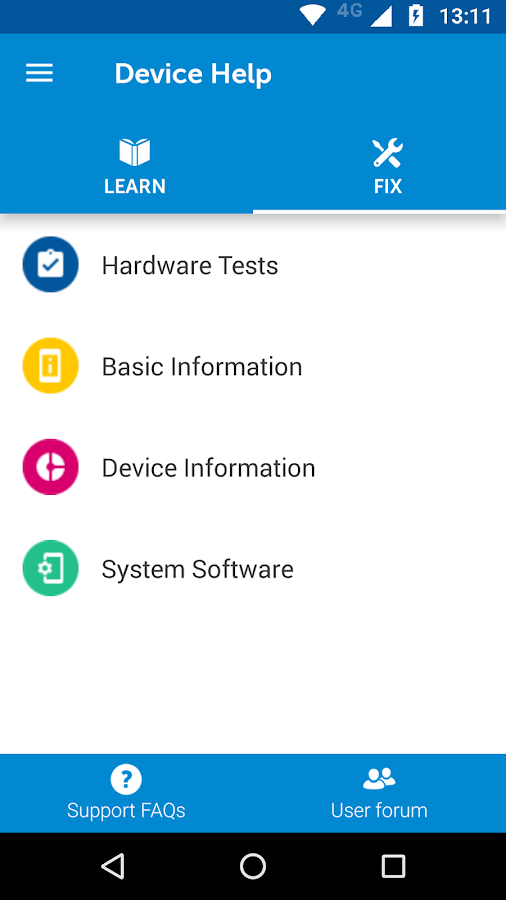 Device Help- screenshot