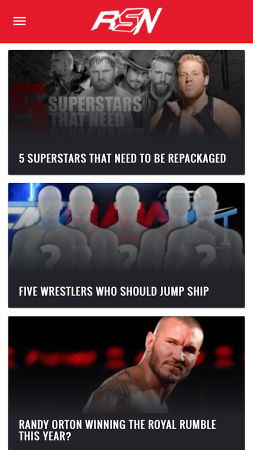 Ringside News App- screenshot