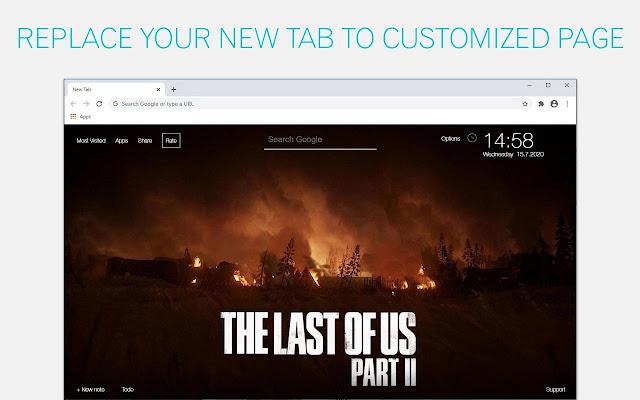The Last of Us 2 Custom New Tab