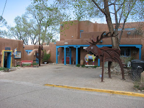 Photo: One of many art galleries in Taos, which is still a funky, laid back place.