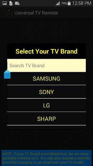 3 Universal TV Remote Control App screenshot