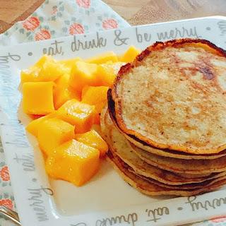 Fluffy Banana Coconut Flour Pancakes.