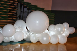 Photo: Forrest Hills Father Daughter dance Angles theme. Close up of large floor cloud...there are always interesting forms in clouds :) ~ Balloons By Turnadaisy ~ artwithballoons.com Grand Rapids, Mi.